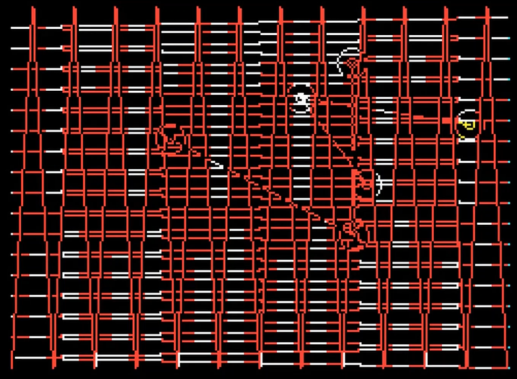 MA1-4 diagonal red white