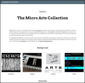 Computer Arts Society Archive Geoff Davis Micro Arts