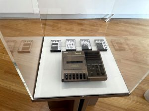 Data cassette deck - now museum piece