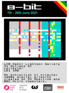8-bit Micro Arts LCB exhib poster