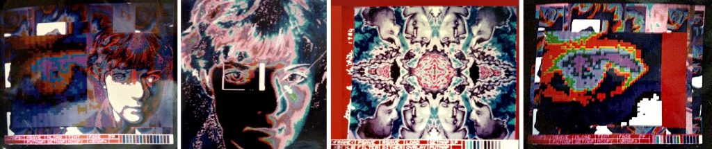 Quantel paintbox art 1984 from Michèle Gauthier Carr-Brown