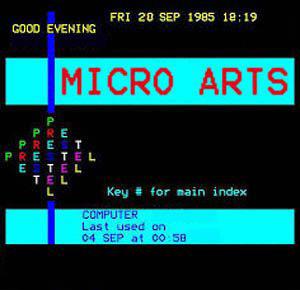 Micro Arts Prestel teletext
